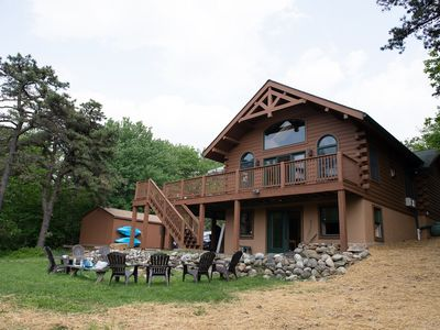 Photo for Rustic Lakefront Cabin on 2 Acres of Property
