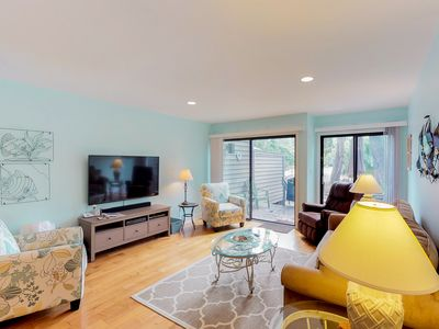Photo for Charming condo w/ shared pool & patio - close to tennis, golf, & the beach