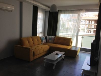 Photo for Rental 1+1 Luxury Residence in Alanya. The residence is located in a complex in Alanya Oba. Residence is fully furnished. Swimmingpool, fitness center, sauna, kiddy pool are available in the residence.