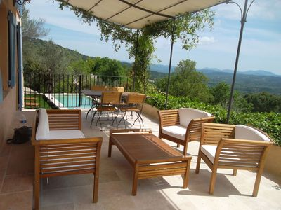 Photo for Charming old house/cottage, breathtaking views, private pool, Cote D'Azur