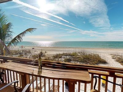 Photo for If this isn't your view, you need to change your latitude ! Toes in the sand beachfront paradise!
