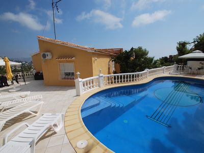 Photo for Holiday villa with sea-view, private pool, internet, air condition