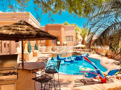 Hav-a-blast in the Gem's just redone sport pool with spa & outdoor kitchen!