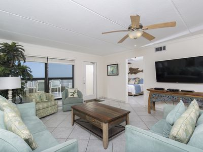 Coastal Condo with Spectacular Ocean Front Balcony! 3 Pools, Hot Tub, Tennis Courts & More!