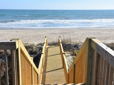 Photo for Oceanfront Cottage with Private Beach Access, Newly Renovated