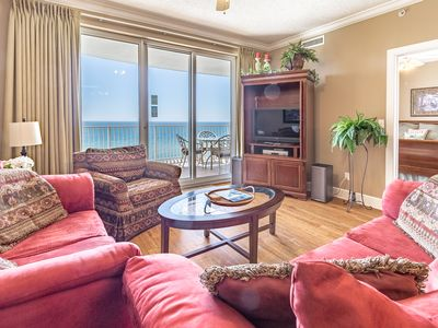 Photo for ☀BeachFRONT@ Twin Palms 1401☀2BR-Aug 13 to 16 $654 Total! Gulf Front Pool!