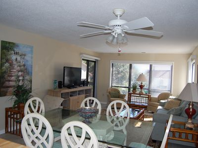 Photo for Freshly Painted and new furniture, just a short 2 minute walk to the beach!!