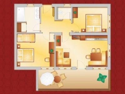 Photo for Apartment Emerald 68 m² to 8 people - Alpenhof Apartments
