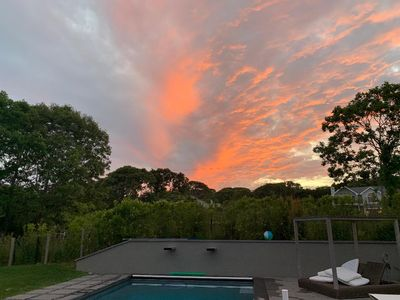 Photo for Superb Montauk Family Retreat with Pool & huge backyard! Private Beach with Key