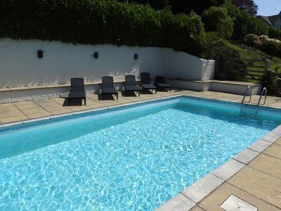 Photo for Traditional 4 bedroom cottage with seasonal private swimming pool close to sea
