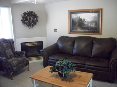 Fireplace & Queen Sleeper Sofa