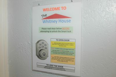 In The Whitney House you have the freedom of Keyless entry on all the doors.