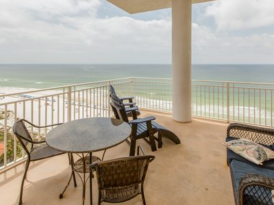 Photo for Wake up to beach views, condo w/ shared pool, hot tub, and fitness center!