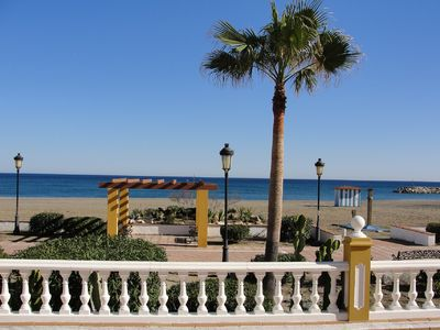 Photo for 2 bed 2 bathroom apartment on the beach 100 metres to Marina. Superb location.