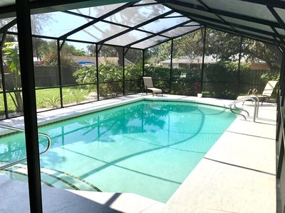 Photo for Private Pool 3 bedroom 2 bath sleeps 10 ~7 minutes to the Beach