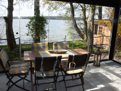 Photo for Bungalow directly on the lake with conservatory, very private - Ferienhof Löschebrand