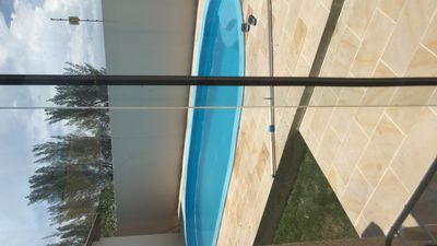 Photo for House on the beach of Atlântida Sul, swimming pool and kiosk with barbecue