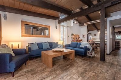 Large open plan space so 10 people can relax in comfort after a long day.