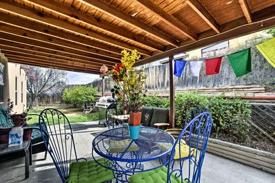 Situated just outside of town, this home's convenient location is ideal.