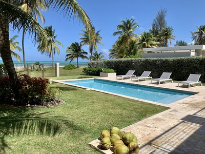 Beautiful and Luxurious Beachfront Pool House next to Rio Mar Rst. (See Video)