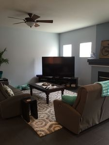Family room with reclining sofas