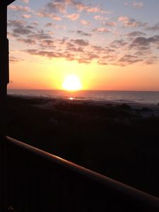 Sunrise from the balcony