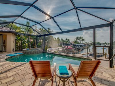 Photo for Upscale New Waterfront Vacation Home, Heated pool & Spa- Villa Endless Summer - Cape Coral