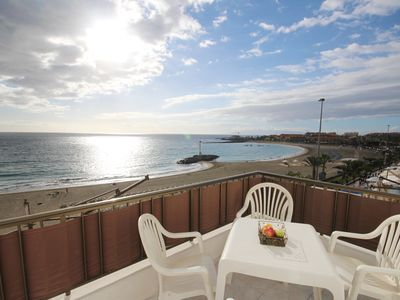 Photo for Front beach apartment Las Vistas, Los Cristianos