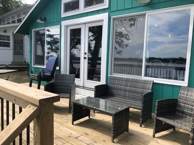 Photo for Big Star Lake Beach TIme!  Newly remodeled cottage for lake front summer fun!