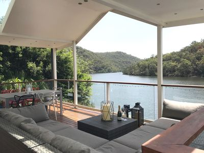 Relax with a glass of champagne and enjoy the views from the upper deck