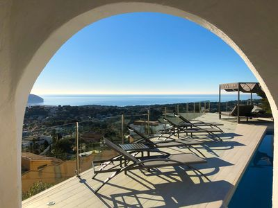 Photo for Your holiday house with panoramic sea views in Moraira, the pearl on the Costa Blanca