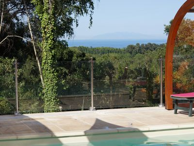 Photo for independent house in the heart of the maquis 6 pers covered swimming pool, sea view in quiet
