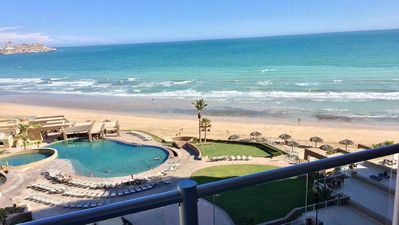 Photo for 3BD/2BA Ocean Front with TWO KING BED MASTERS plus! - Las Palomas, CRISTAL 701