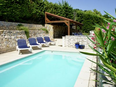 Photo for Collioure - 4 bed modern villa with private heated pool WiFi and great views