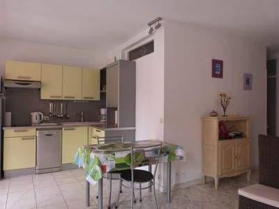 Photo for Cagnes sur mer 5 minutes walk from the sea, large quiet studio with private parking