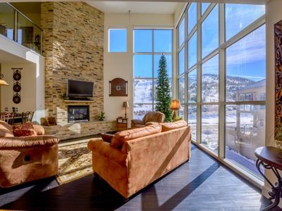 Photo for Beautiful and spacious two story condo across from the lifts, park, and Bristlecone Pond! Enjoy the