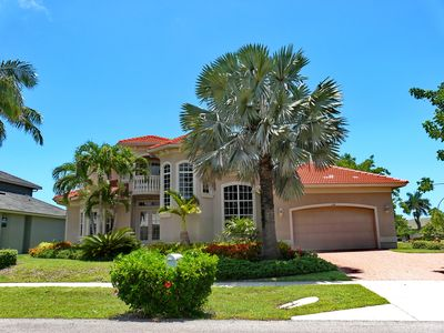Photo for Spacious waterfront house w/ heated pool & upstairs balcony with water view