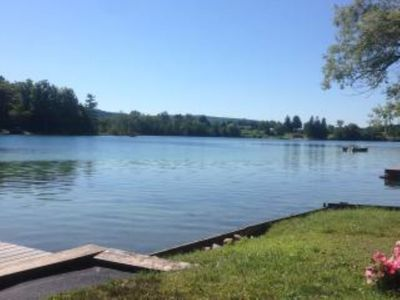 Photo for Waterfront, Rustic Cabin, Great Swimming, Own Dock, Raft