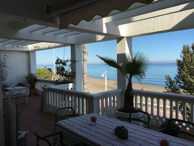 Photo for Beautiful house with large terrace in a quiet area by the beach