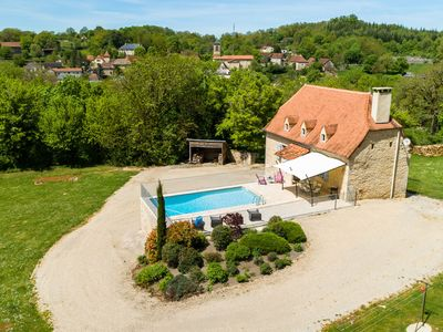 Photo for Holiday home in Thémines with private swimming pool, large garden and central location