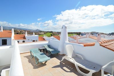 You get 2 decks. This is the upper  private gated roof sundeck with great views