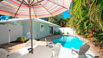 Photo for SUNDAZE:Villa w/Private Heated Pool! Short Block to Beach, West of Gulf Drive!!!