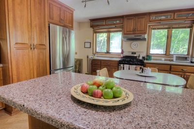 Fully equipped kitchen with new, quiet stainless appliances and dishwasher