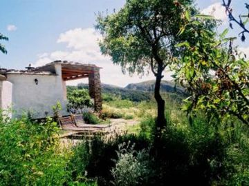 House with garden on the edge of a white village in the Alpujarras