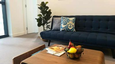 Photo for Brand New 2BD High speed WIFI+Parking at request/Walking Distance to Everything