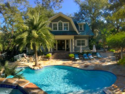 Photo for Stunning Custom Designed Home, Private Pool w/water slide and Hot tub, 518 Remora Circle