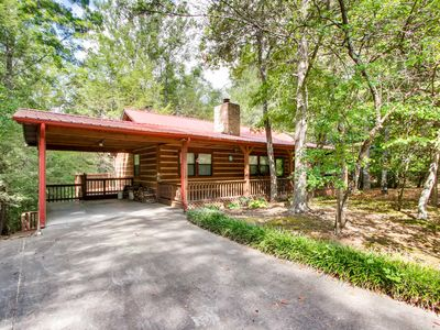 Photo for Quaint 2 bedroom cabin tucked in a wooded area with easy access
