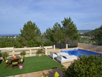 Photo for Cozy house with pool, barbecue, sea views, just 4.5km to Cala Bassa Beach -ETV-0974-E
