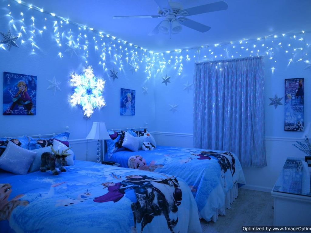Special Lighting In Frozen Room Can Be Dimmed For Multiple Special Effects.