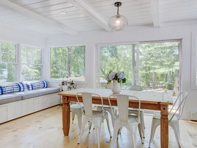 Photo for Sun-drenched cottage in the Hamptons, minutes from breathtaking beach sunsets